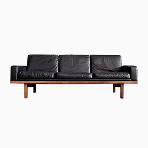Tornado Leather Sofa by Eric Merthen for IRE Möbler, 1950s