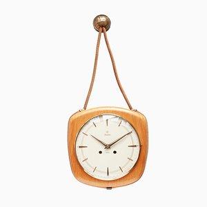 Model Exacta Rope Wall Clock from Junghans, 1950s