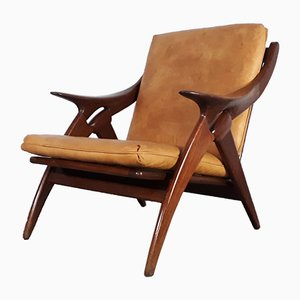 Leather Knoop Lounge Chair by De Ster, 1950s