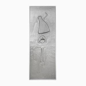 Grand Bas-Relief Brutaliste en Aluminium par Marc D'Haenens, 1970s
