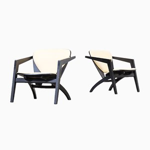 GE-460 Butterfly Chairs by Hans Wegner for Getama, 1970s, Set of 2