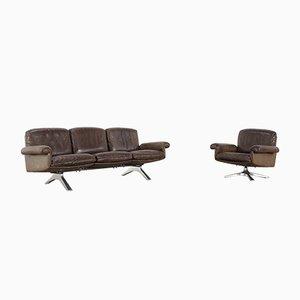 DS 31 drehbarer Sessel & 3-Sitzer Sofa von de Sede, 1970er