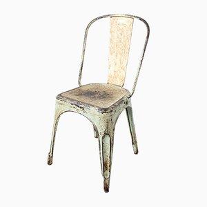 Französischer Metallstuhl von Xavier Pauchard, 1930er