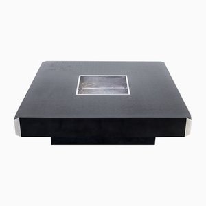 Square Alveo Coffee Table by Willy Rizzo for Mario Sabot, 1970s