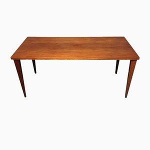Mesa de comedor rectangular de teca de Nanna Ditzel para Kolds Savvaerk, años 50