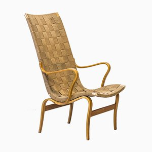 Mid-Century Model Arbetsstolen Armchair by Bruno Mathsson for Karl Mathsson