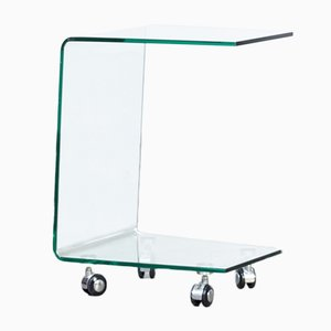 C-Model Glass Trolley, 1980s