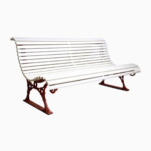Park or Garden Bench with Cast Iron Feet, 1890s