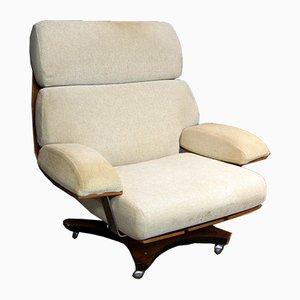 Drehbarer Sessel aus Palisander & Chrom von G-Plan, 1960er