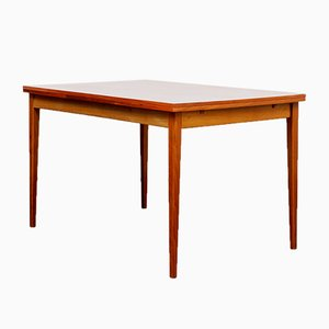 Tavolo da pranzo allungabile in legno di noce, anni '60