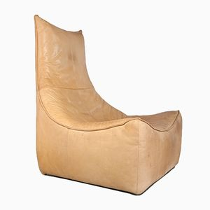 Brutalist Rock Leather Lounge Chair by Gerard van den Berg for Montis, 1970s