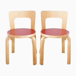 Chaises pour Enfant N65 Vintage par Alvar Aalto pour Artek, Set de 4