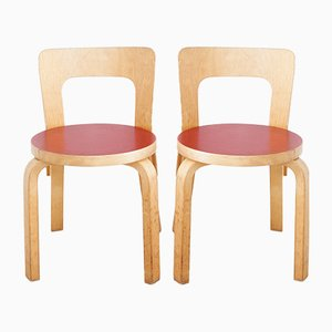 Vintage N65 Children's Chairs by Alvar Aalto for Artek, Set of 4