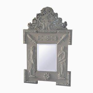 Antiker Spiegel mit Rahmen aus Eiche