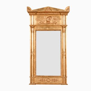 Gilded Column Mirror, 1840s
