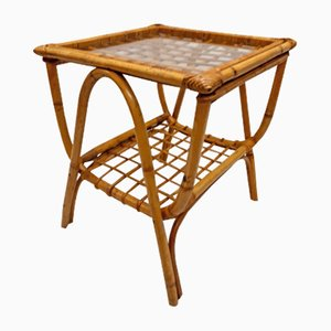 Rattan Side Table, 1960s