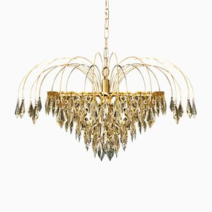 Murano Glass & Crystal Chandelier, 1970s