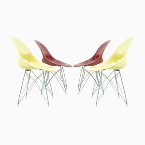 Fiberglass Chairs by Miroslav Navrátil for Vertex, 1950s, Set of 4