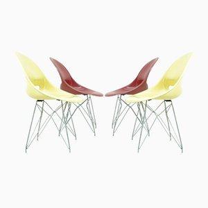 Sedie in fibra di vetro di Miroslav Navrátil per Vertex, anni '50, set di 4