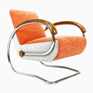 Bauhaus H-221 Cantilever Chair by Jindřich Halabala, 1930s