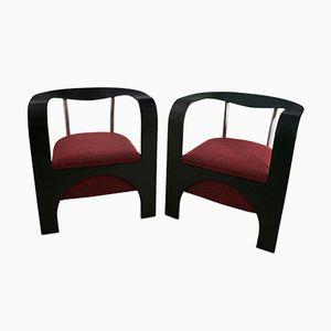 Armlehnstühle von Giugario Design, 1980er, 2er Set
