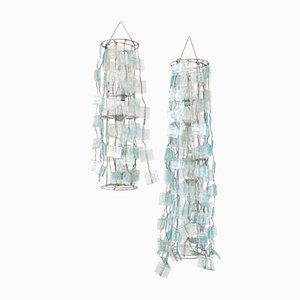 Handgemachte Glaslampen, 2007, 2er Set