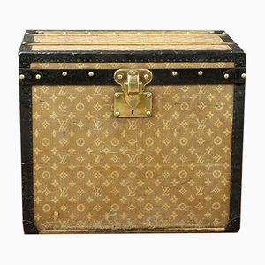 Antiker Hutkoffer mit Monogramm von Louis Vuitton