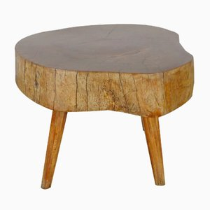 Tavolino da caffè creato da un tronco, anni '60