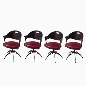 Mid-Century Italian Swivel Chairs, Set of 4