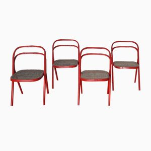 Santina Chairs by Carlo Santi for Zanotta, 1970s, Set of 4