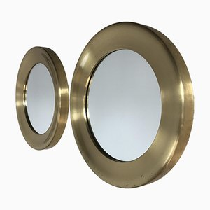 Swedish Patinated Brass Mirrors by Markaryd, 1960s, Set of 2