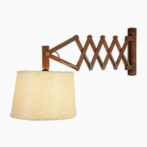 Scissor Lamp with Teak Frame, 1960s