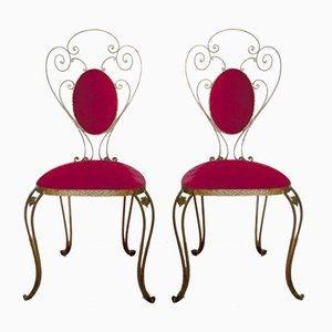 Italian Wrought Iron Chairs by Pier Luigi Colli, 1955, Set of 2