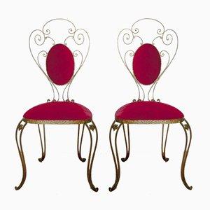 Italienische Stühle aus Schmiedeeisen von Pier Luigi Colli, 1955, 2er Set