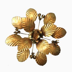 Leaf & Flower Ceiling Light by Hans Kögl, 1970s