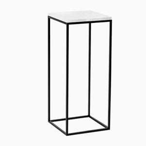 Small WHITE PILLAR Side Table by Un'common