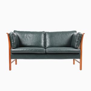 Danish Leather Sofa by Erik Marquardsen & Takashi Okamura for Skipper, 1980s