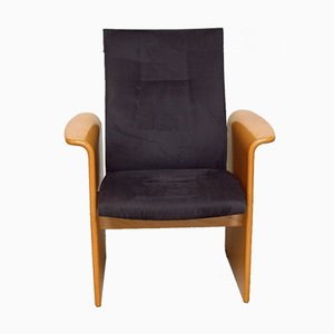 Suede Lounge Chair from Hiller, 1980s