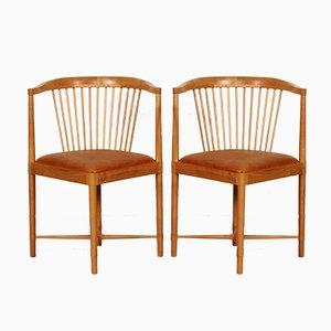 Vintage Ruder Konge Chairs von Børge Mogensen für Søborg Møbler, 2er Set