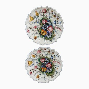 Hand-Painted Ceramic Dishes from Antonio Zen Nove, 1980s, Set of 2