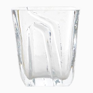 Small Vintage Scandinavian Glass Vase from Kosta Boda