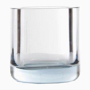 Small Blue Vintage Scandinavian Glass Vase by Per Lutken for Homelgaard