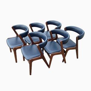 Dänische Fire Chairs von Kai Kristiansen für Schou Andersen, 1960er