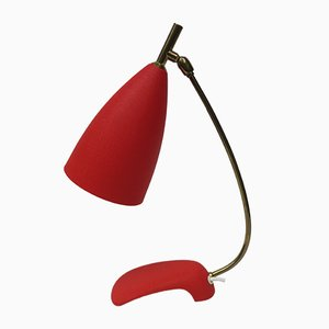 Red Table Lamp by Louis Kalff for Philips, 1950s