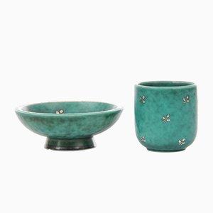 Vases Bleus Satinato de Carlo Morretti, 1950s, Set de 2