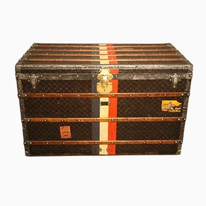 Large Checkered Monogram Steamer Trunk from Louis Vuitton, 1890s