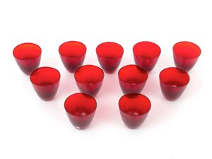 Red Vintage Glasses from Kosta Boda, Set of 11