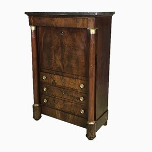 Antique Empire French Mahogany Secretary