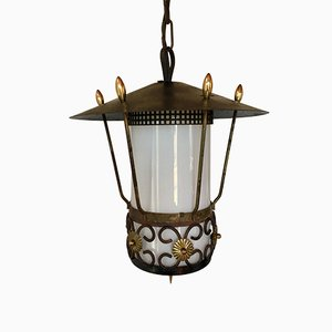 Lampe à Suspension Lanterne, 1950s