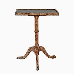 Tavolo da gioco antico con ripiano in ardesia